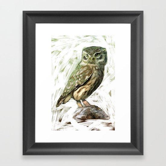 Olive Owl Framed Art Print