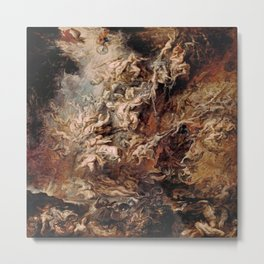 Peter Paul Rubens's The Fall of the Damned Metal Print