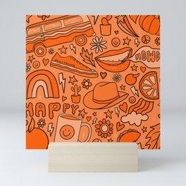 Orange Print Mini Art Print