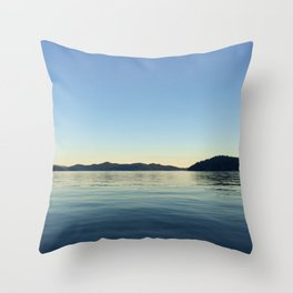 Ocean Calm V Throw Pillow