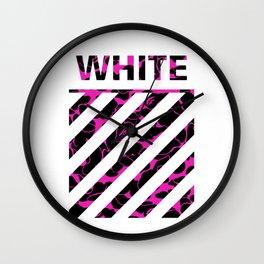 off white camo Wall Clock