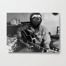 Rockstar Sloth #3 Metal Print
