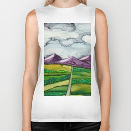 Take Me To The Mountains Biker Tank