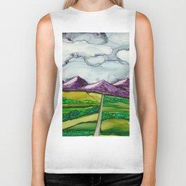 Take Me To The Mountains Biker Tank