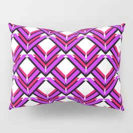 Purple Red Orange Pattern Pillow Sham