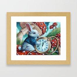 Don't Be Late Framed Art Print