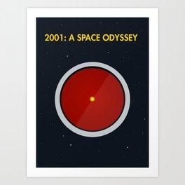 2001: A Space Odyssey - HAL 3000 Art Print