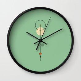 Mid Geo 03 // Mid Century Modern Minimalist Illustration Wall Clock