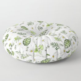 Scattered Garden Herbs Floor Pillow