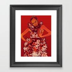 i bring you flowers Framed Art Print