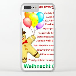 Merry Christmas everywhere Clear iPhone Case