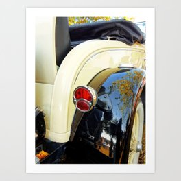 Model A 2 - Tail Light Art Print