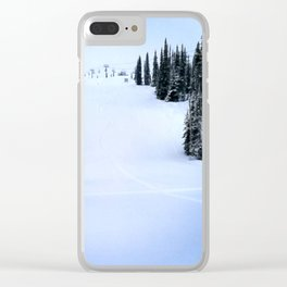 Fresh morning powder Clear iPhone Case