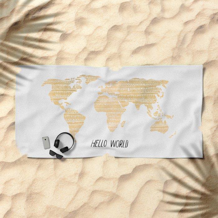 Hello World Beach Towel