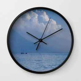 Lake Garda in the Blue Mist Wall Clock