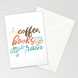 Coffee, Books & Rain II Stationery Cards