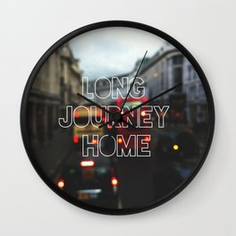 Long Journey home Wall Clock
