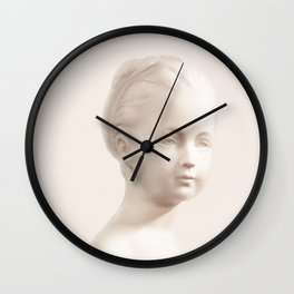 Girl in white Wall Clock