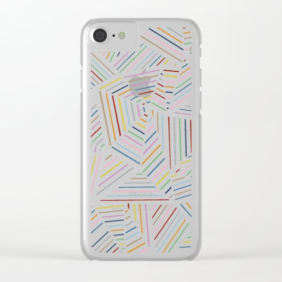 Ab Linear Rainbowz Clear iPhone Case