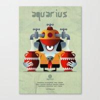 aquarius Canvas Prints featuring AQUARIUS by Angelo Cerantola