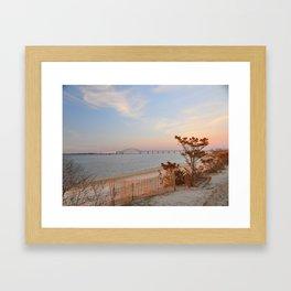 Sunset at Fire Island Framed Art Print