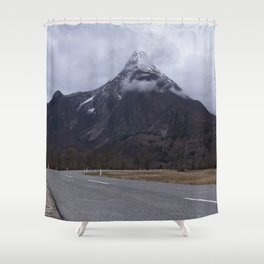 Road Towards Mangart Mountain Shower Curtain