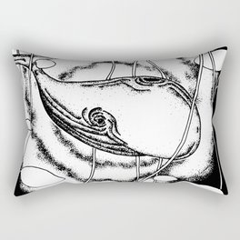 Space whale floating in space surreal illustration Rectangular Pillow