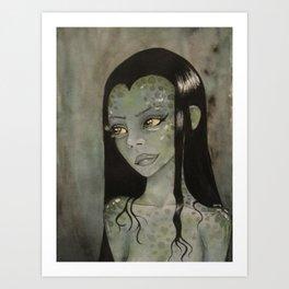 Swamp Woman Art Print