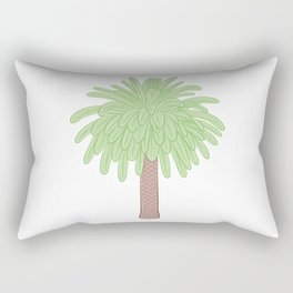 Simple Leaf Palm Tree Illustration Rectangular Pillow