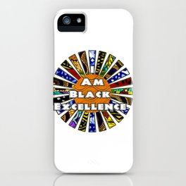 I am Black Excellence African Fabric Collage iPhone Case