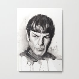 Spock Star Trek Metal Print