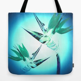 Unicorn Bird of Paradise 1980's Retro Floral Tote Bag
