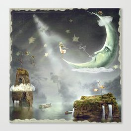 Night. Time of miracles and magic Canvas Print