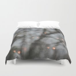 Glowing Hearts Duvet Cover