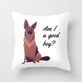 Scamp, Am I a good boy? Throw Pillow