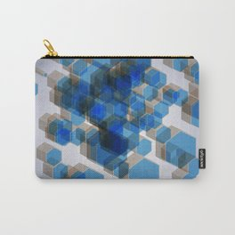 3D Hexagon Background Carry-All Pouch