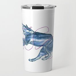 Blue Shark Cat :: Series 1 Travel Mug