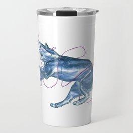 Blue Shark Cat :: Series 1 Travel Mug