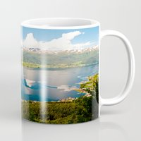norway Mugs featuring Sandane, Norway by MankiniPhotography