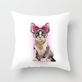 Feminism Woman is like a cat Throw Pillow