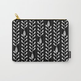 Monochrome banksia pattern Carry-All Pouch