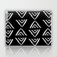 mudcloth 16 minimal textured black and white pattern home decor minimalist beach Laptop & iPad Skin