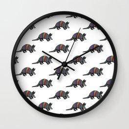 Rainbow Armadillo Wall Clock