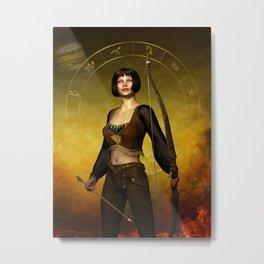 Sagittarius Zodiac Fantasy Metal Print