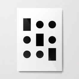 Tic-tac-toe geometrism 60's 70's Metal Print