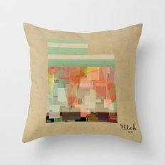 Utah state map Throw Pillow