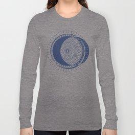 Moon Mandala (Dark Blue) Long Sleeve T-shirt