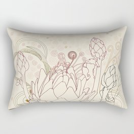 Peach and purple  artichoke Rectangular Pillow