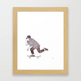 skatebearding (goofy) Framed Art Print