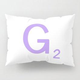 Letter G Scrabble Initial Sign Pillow Sham